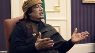 Libyan leader Moammar Kadhafi