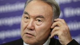 Le président kazakh, Noursoultan Nazarbaïev, le 26 octobre 2010.