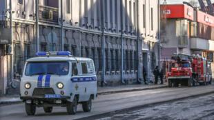 Полицейский автомобиль в Архангельске. 31 октября 2018 г.