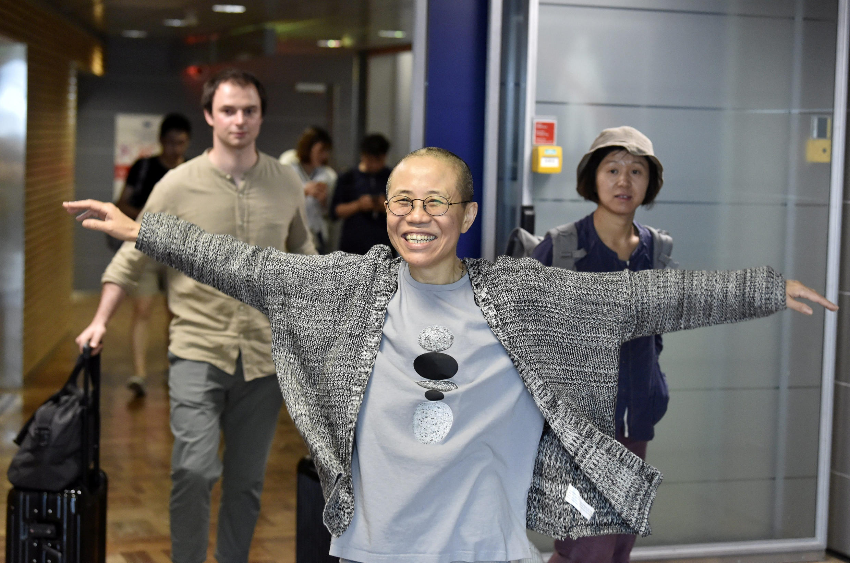 劉霞抵達赫爾辛基機場 2018年7月10日