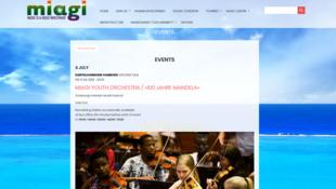 Capture d'écran de la page de l'organisation Miagi.