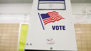 曼哈頓的一處投票箱