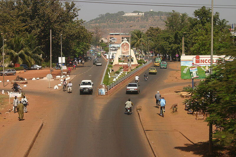Une vue de Bamako, capitale du Mali.