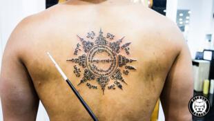 Sak Yant tattoos are sacred geometrical designs, tattooed on individuals.