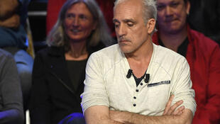 Philippe Poutou, one of the six minor candidates in the French presidential election, at Tuesday's debate