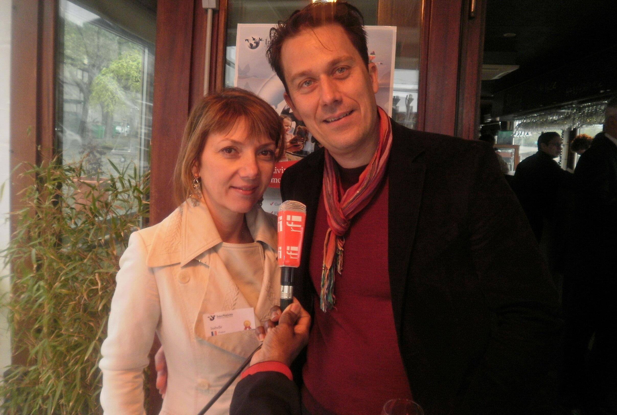 Antoni Cordero et Isabelle Besnier, les 2 responsables de la branche parisienne  d'InterNations.