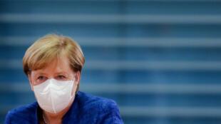 Angela Merkel à Berlin, le 21 octobre 2020.