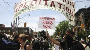 A situação dos indígenas é uma forte preocupação das ONGs canadenses.
