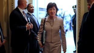 Thượng nghị sĩ bang Maine bà Susan Collins thông báo chống việc hủy bỏ Obamacare.