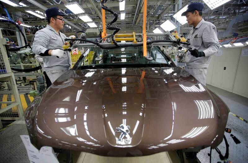 法国标致雪铁龙与中国东风在武汉的合资工厂2014年2月13日
