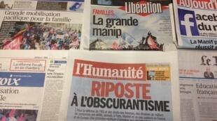 Primeiras páginas diários franceses 3/2/2014