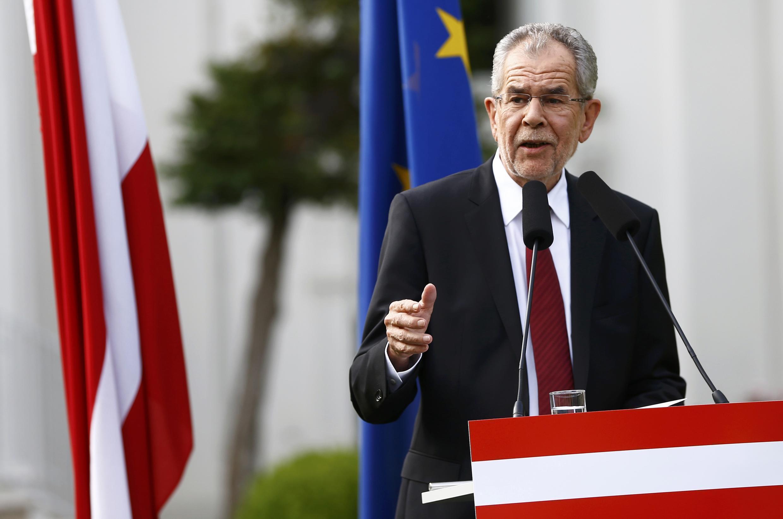 Ông Alexander Van der Bellen, ứng viên độc lập trúng cử tổng thống Áo trong gang tấc, ngày 23/05/2016.
