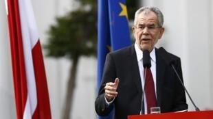 Alexander Van der Bellen, le nouveau président autrichien.  23/05/2016.