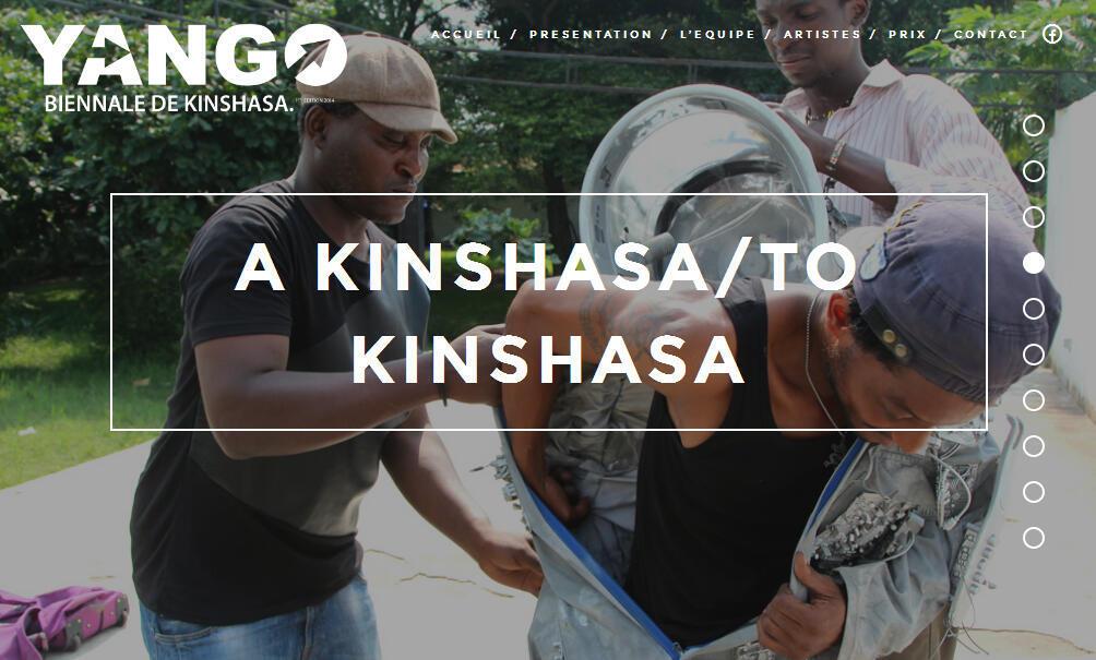 Capture d'écran du site officiel de la  première Biennale d'art contemporain à Kinshasa.
