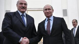 Владимир Путин и Александр Лукашенко в Москве 5 декабря 2018