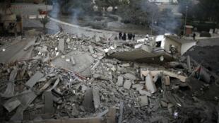 Este era el edificio en donde se encontraba la oficina del Primer ministro del movimiento palestino Hamas Ismail Haniyeh en Gaza.