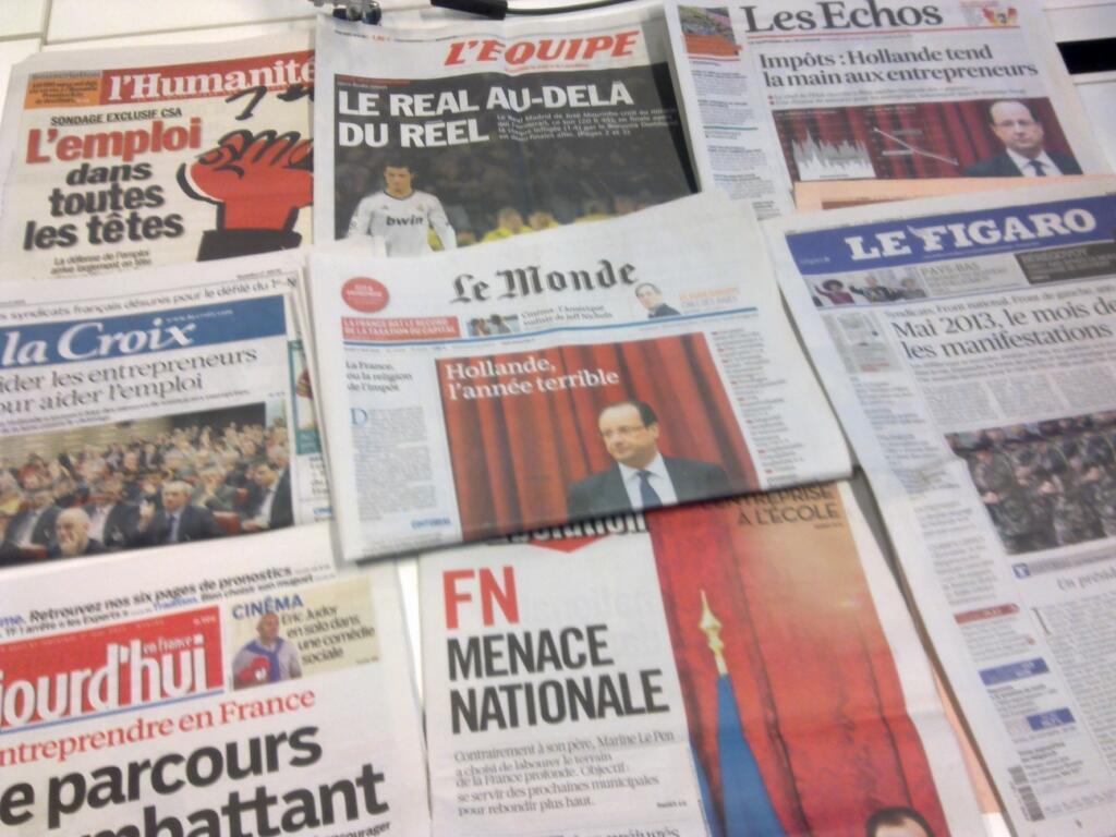 Diários franceses  30/04/2013