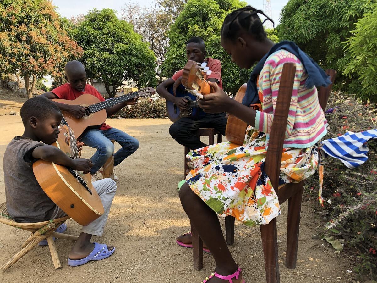Centrafrique - école de musique à Bouar