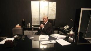 Omar Suleiman en su despacho, el 14 de abril de 2012.