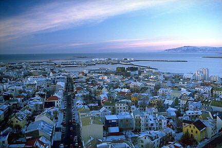 Reiquiavique, capital da Islândia, onde se vota, 29 de outubro, em eleições legislativas