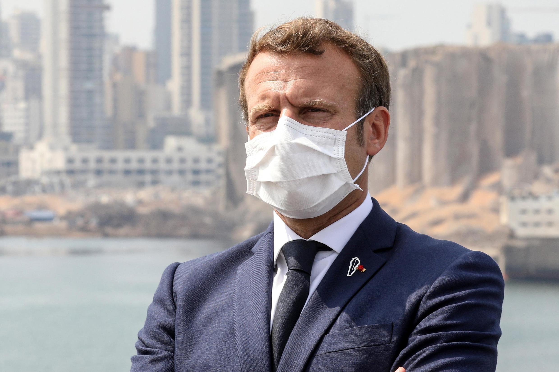 Emmanuel Macron à Beyrouth au Liban, mardi 1er septembre 2020.