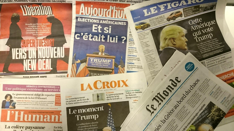 Primeiras páginas dos jornais franceses de 01 de março de 2016