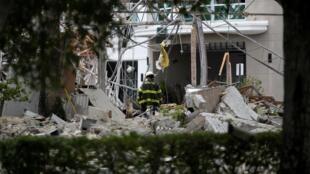 Торговый центр Fountains в городе Плантейшен (Флорида) после взрыва