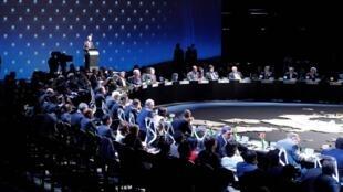拉美加勒比海歐盟峰會閉幕式2013年1月27日聖地亞哥