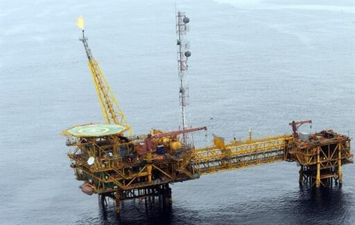 An oil rig in Port Harcourt in the Niger Delta
