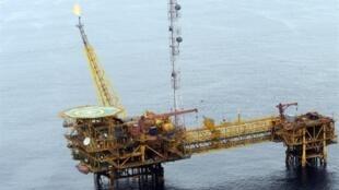 Une plateforme pétrolière au large de Port Harcourt dans le delta du Niger.