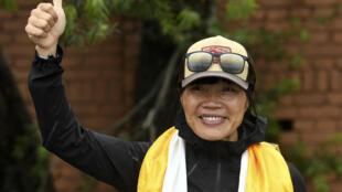 La Hongkongaise Tsang Yin-hung, 44 ans, qui a battu le record féminin de la plus rapide ascension de l'Everest