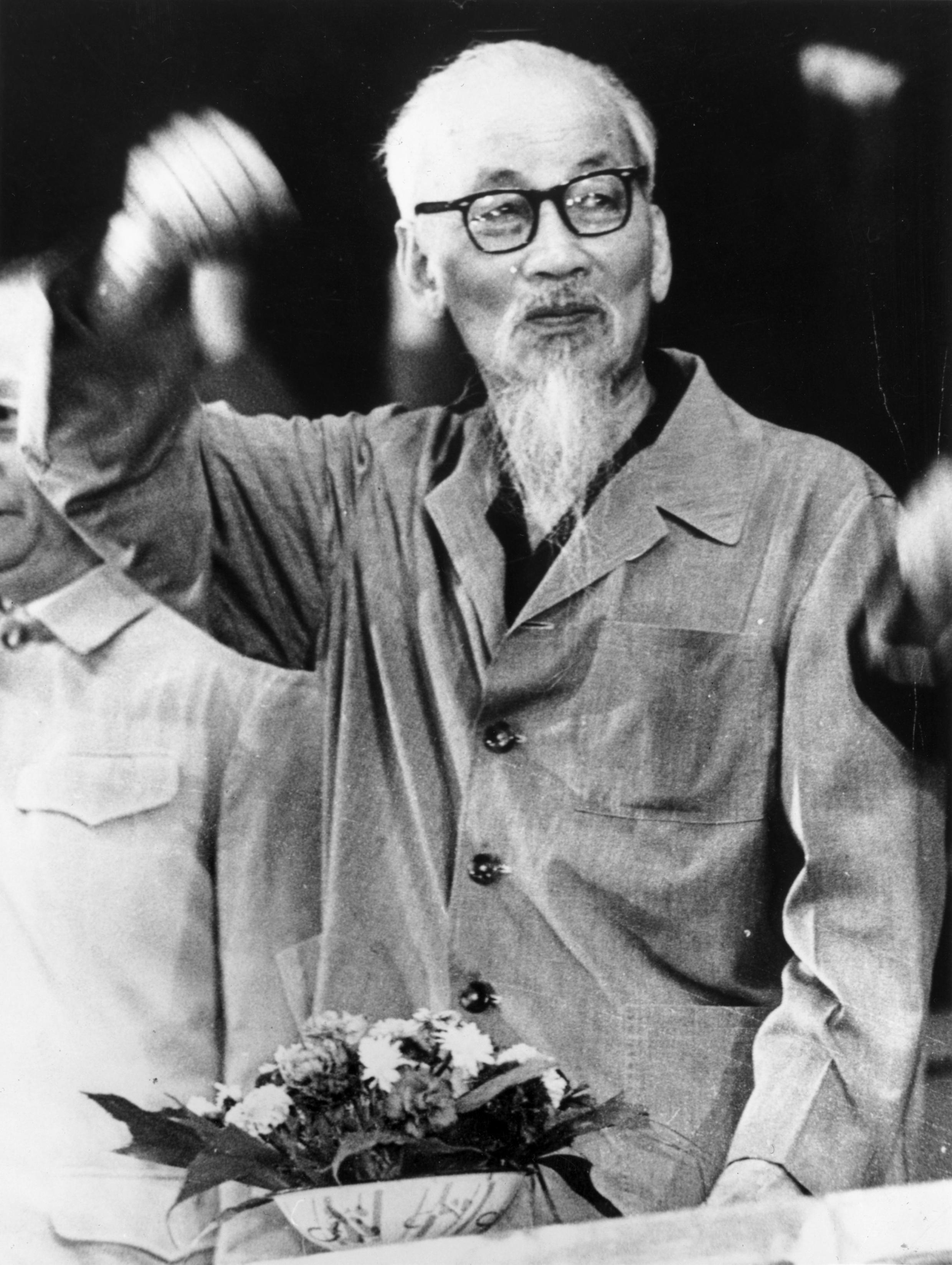 Le président de la République démocratique du Vietnam, Ho Chi Minh (1890 - 1969) en 1969.