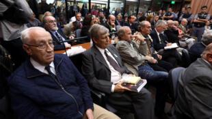 Verdict ddans le procès des militaires poursuivis pour les exactions de la dictature militaire en Argentine: on reconnaît Jorge Acosta, «El tigre Acosta», et Alfredo Astiz, surnommé «l'ange blond de la mort», le 29 novembre 2017.
