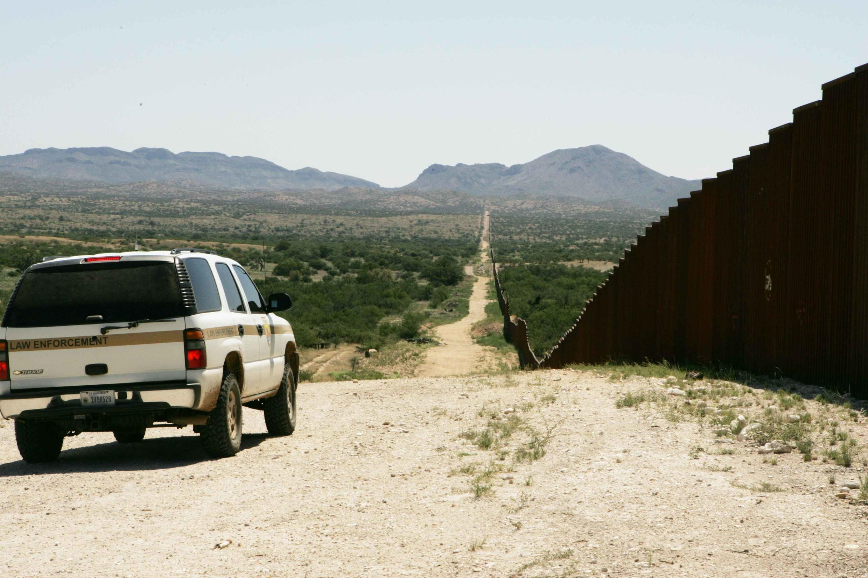 Le « border wall », mur frontalier séparant les Etats-Unis du Mexique.