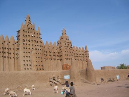 La mosquée de Djenné, au Mali.