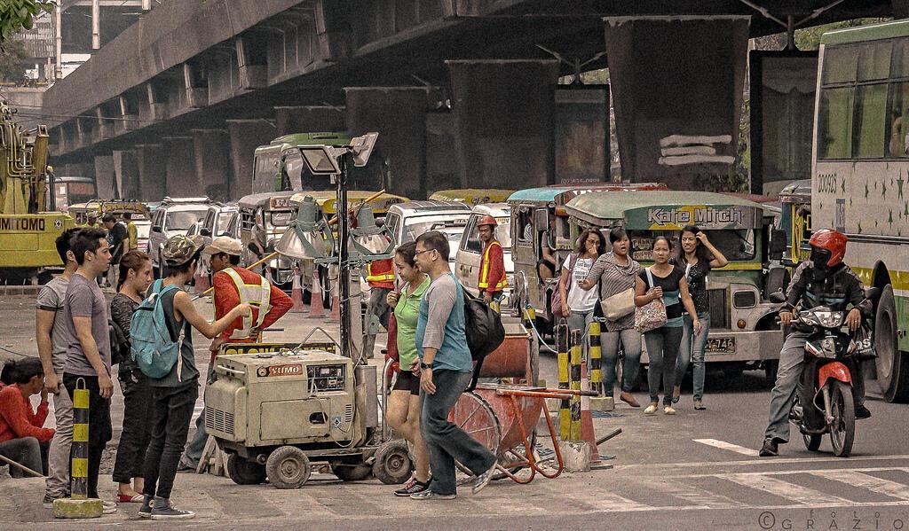 案件發生地馬尼拉塔夫脫大街資料圖片