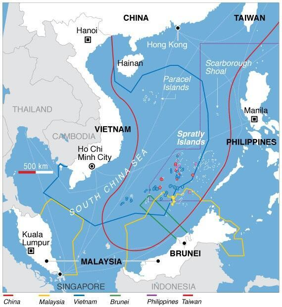 """Đảo Hải Nam và bản đồ hình """"lưỡi bò"""" đòi chủ quyền của Trung Quốc tại Biển Đông"""