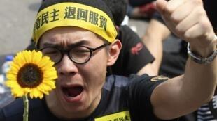 台湾反服贸运动学生一马当先