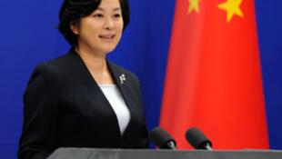 Hua Chunying, porta-voz do Ministério dos Negócios Estrangeiros da China .