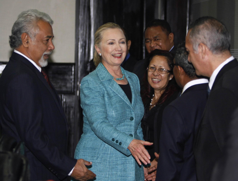 美國國務卿希拉里2012年9月6日抵達東帝汶訪問
