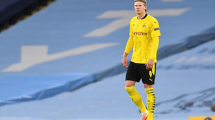 Erling Haaland was asked to sign an autograph for the assistant referee after Borussia Dortmund's 2-1 Champions League defeat to Manchester City