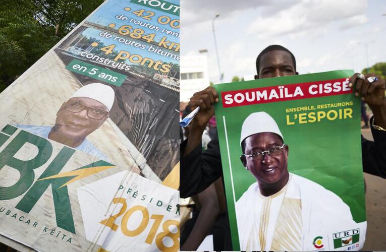 Les candidats IBK et Soumaïla Cissé ont tenu leurs premiers meetings à Bamako, le dimanche 8 juillet.