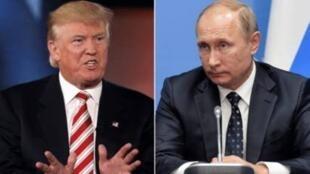 俄羅斯總統普京與美國總統特朗普。