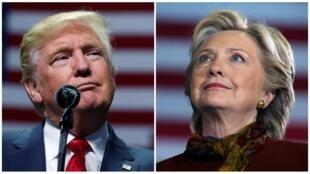 Com estilos diferentes, Donald Trump e Hillary Clinton dividem os eleitores