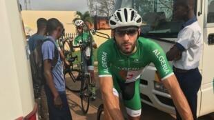 L'Algérien Youcef Reguigui lors de la première étape de la Tropicale Amissa Bongo, le 20 janvier 2020.
