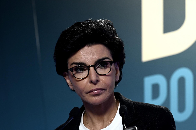 Rachida Dati au soir du premier tour des élections municipales à la mairie de Paris le 15 mars 2020.