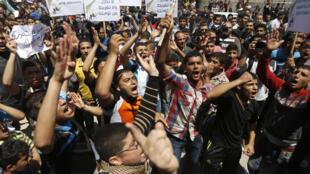 Wapalestina waingia mitaa, Aprili 29 huko Gaza kwa kudai hasa kusitishwa kwa uhasama kati ya Hamas na Fatah.