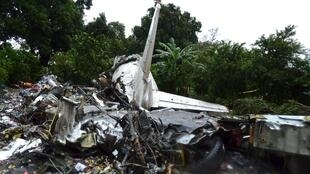 南苏丹俄制飞机残骸,2015年11月 4 号