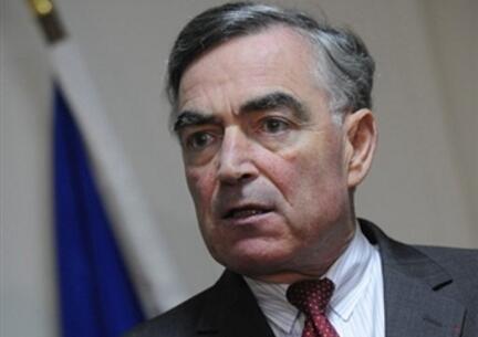 Le procureur de la République de Paris, Jean-Claude Marin, lors d'une conférence de presse en novembre 2008 à Paris