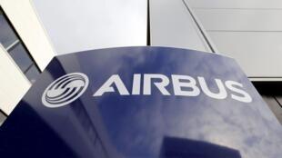Logo tập đoàn Airbus tại trụ sở ở Toulouse, Pháp.